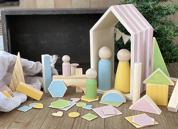 Wooden Playset - Pink House