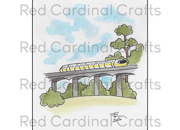 Yellow monorail