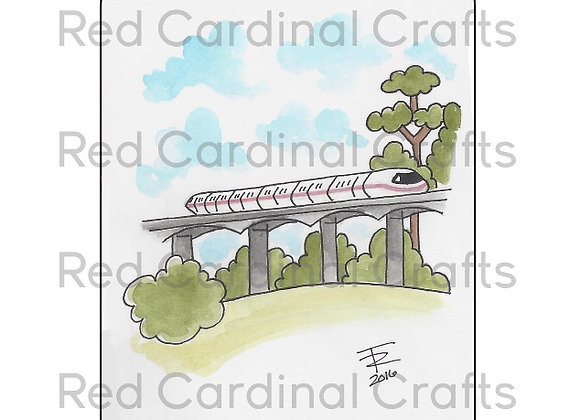 Pink monorail
