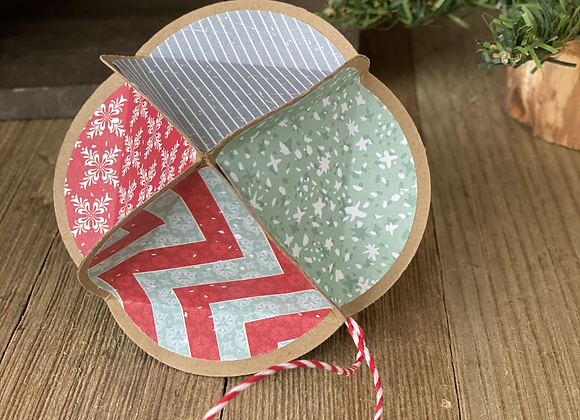 Paper Tree Ornament - Multi Color with Chevron