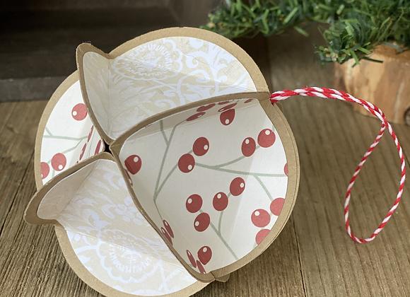 Paper Tree Ornament - Beige