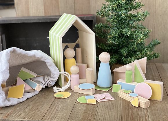 Wooden Playset - Green House