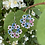 Thumbnail: Tatted Earrings - pink and blue