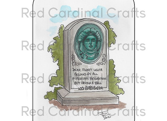 Haunted Mansion Headstone