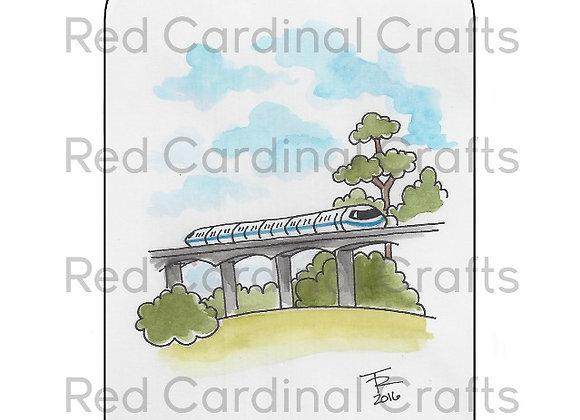 Blue monorail