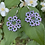 Thumbnail: Tatted Earrings - pale purple and grey