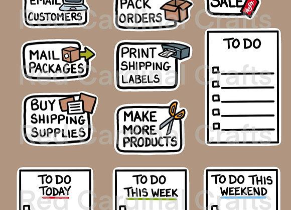 Digital Stickers -Productivity
