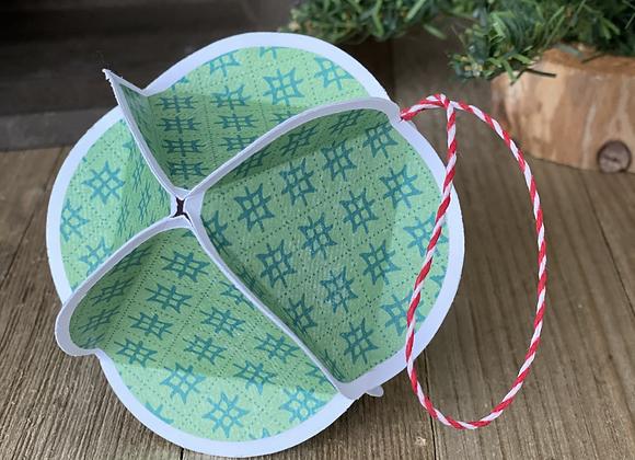 Paper Tree Ornament - Green