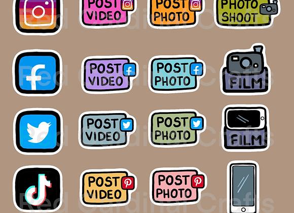 Digital Stickers - Social media