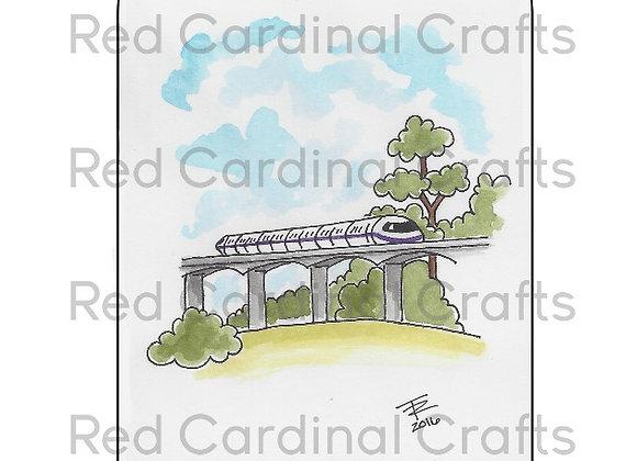 Purple monorail