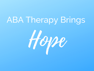 ABA Therapy Brings Hope