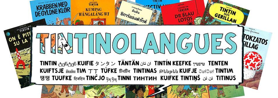 Tintin langues étrangères Tintin foreign languages Tintín lenguas extranjeras Tintim línguas estrangeiras tim und struppi in fremden Sprachen
