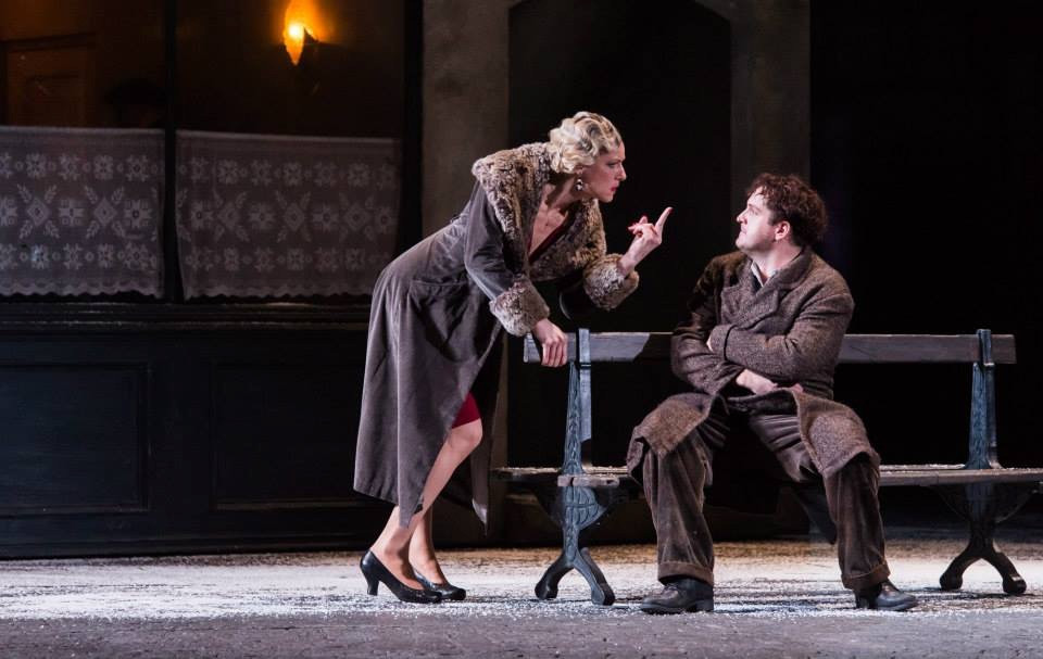 As Musetta at ENO with George Von Bergen (Marcello)