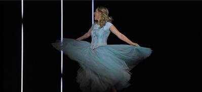 Girl in a twirly dress
