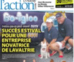 article de presse friandise pour chiens Go Igloo