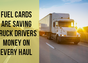 Fuel Cards Are Saving Truck Drivers Money on Every Haul