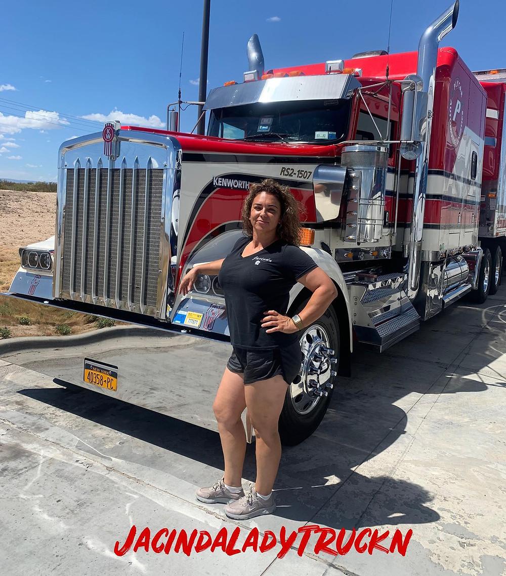 Jacinda Duran aka Jacinda Lady Truck'n. Porter Freight Funding's Brand Ambassador.