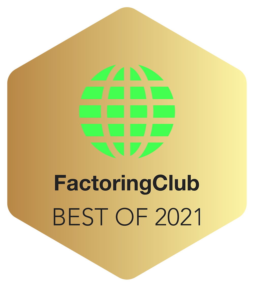 Best Factoring Company Award 2021 by FactoringClub
