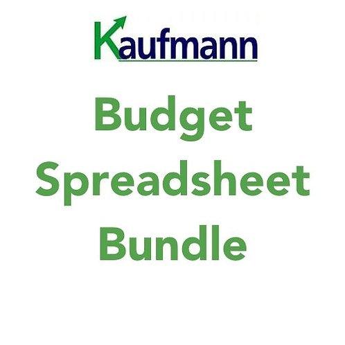 Budget Spreadsheet Bundle