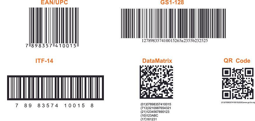 Modelos de códigos de barras
