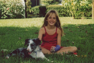 Taz and I when I was a scrawny little kid and him a wild pup.