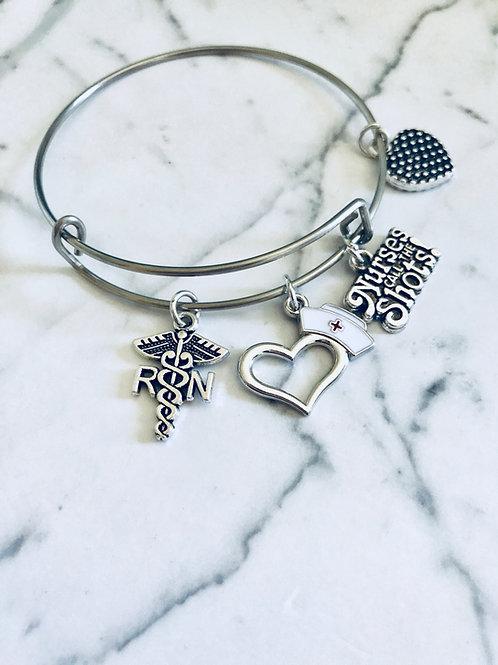 RN Charm Bracelet