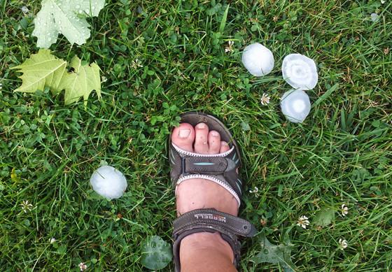 Huge hail balls