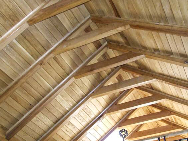European Oak Roof A Frames With t and g