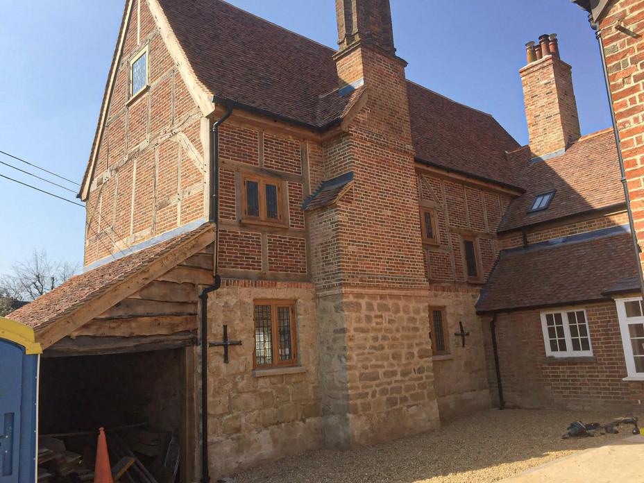 complete house of leaded european oak wi