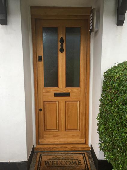Solid European Oak Hardwood Front door a