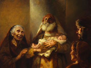 Mary and Joseph Encounter Anna and Simeon