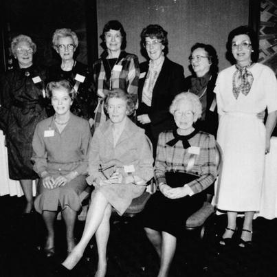 Founders of the Manitoba Speech and Hearing Association - Isabel Richard and 11 others