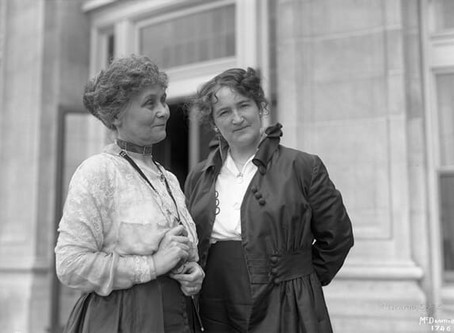 Nellie McClung and Emmeline Pankhurst