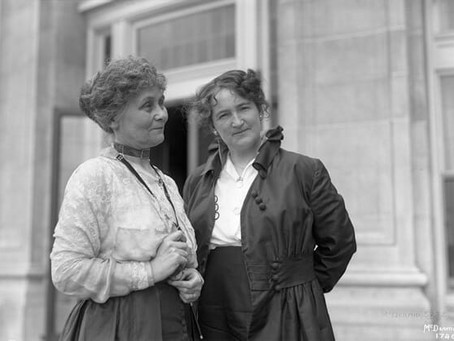 Nellie McClung and Emmeline Pankhurst