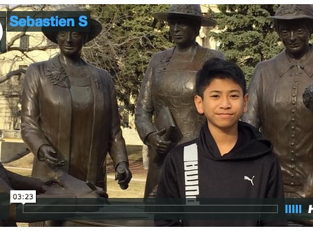Canada's History for Kids Young Citizen Project – Sebastien