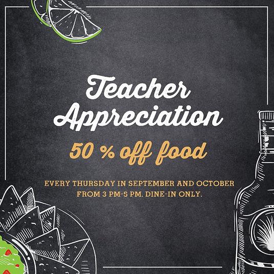 Teacher Appreciation Margaritas Mexican