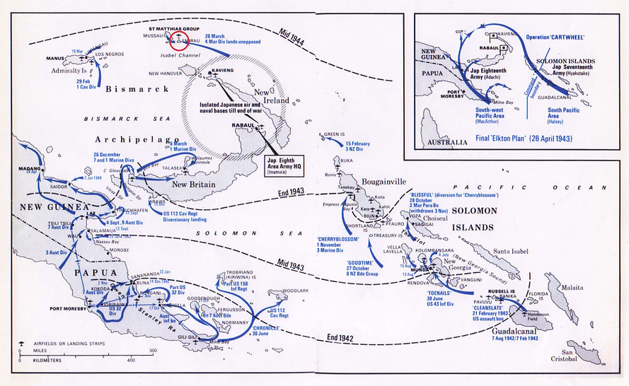 South Pacific Island Map