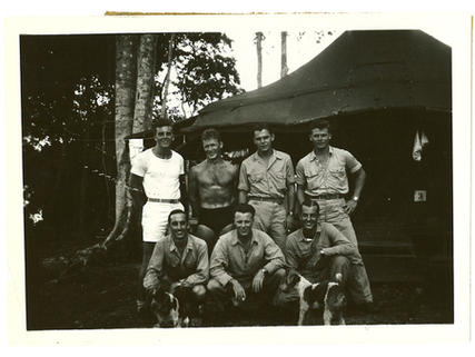Front Row (l-r) Acker, Elmes, J.A. Deatherage (VMF211)