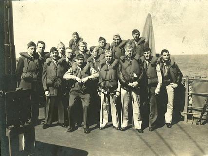 Second eschelon aboard ship bound for Oahu in Jan. 1943
