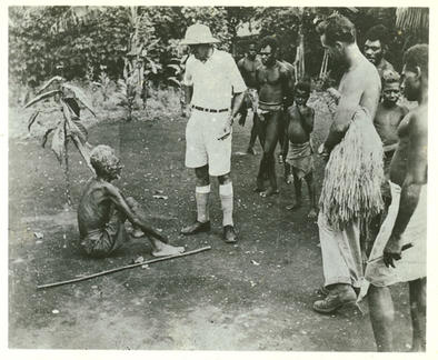 Doc speaks with island native with leprosy
