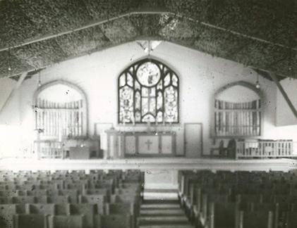 Interior of Island Chapel