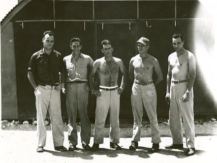 (l-r) Yehudi, Anderson, Champion, Clemetsen and Danson