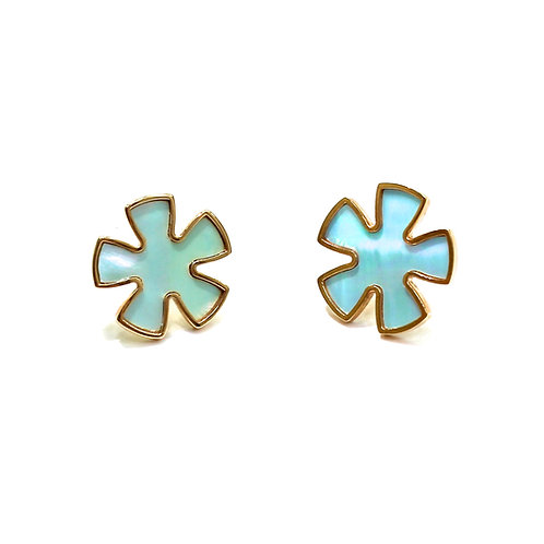 RADEN JEWELRY SAKURA PIERCED EARRINGS BLUE