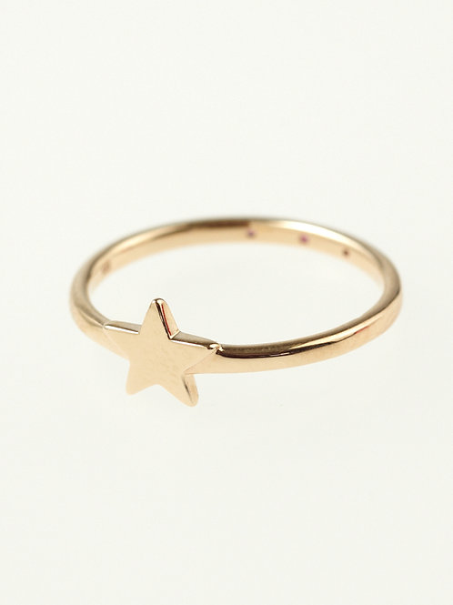 TWO MINI STAR PINKIE RING
