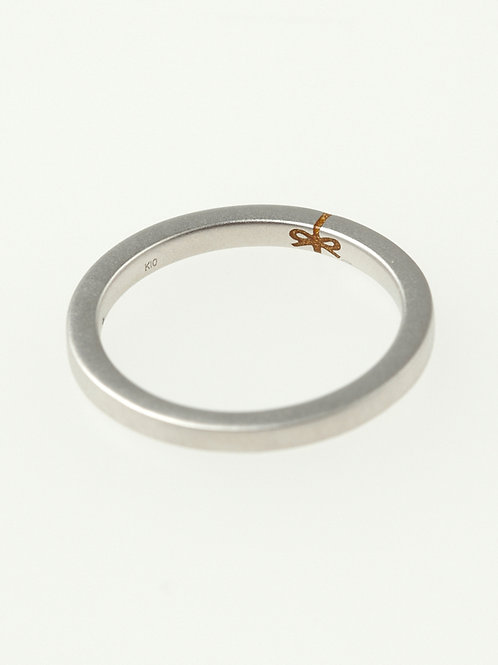 RIBBON MARRIAGE RING K10WG