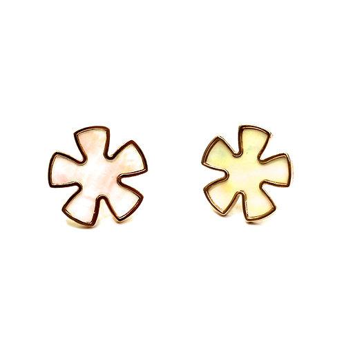 RADEN JEWELRY SAKURA PIERCED EARRINGS WHITE