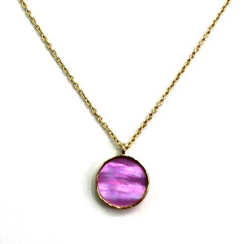 RADEN JEWELRY NECKLACE CIRCLE LAVENDER/GREEN