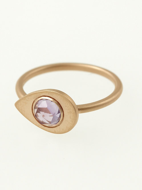 SIMPLE ROSECUT RING AMETHYST