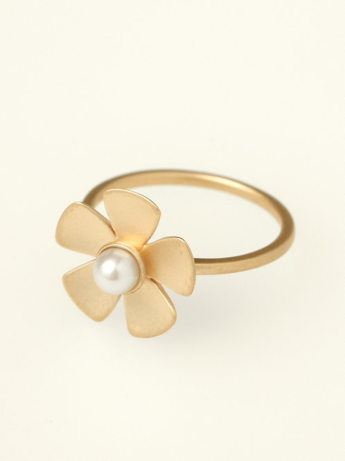 CLASSIC FLOWER RING PEARL