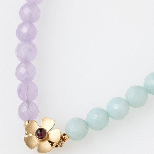 FLOWER PEARL NECKLACE PG